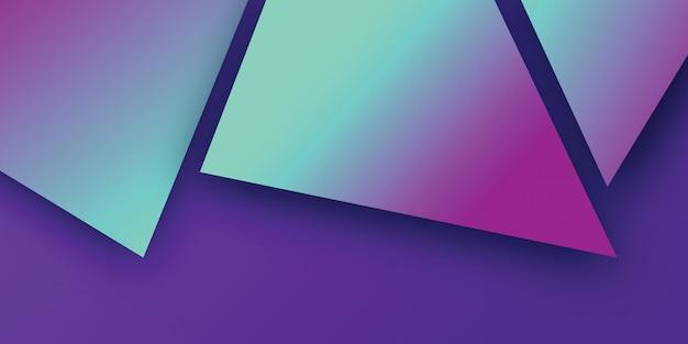 Gradientowy geometryczny z abstrakcjonistycznym tłem