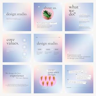 Gradientowy graficzny wektor biznesowy z edytowalnym zestawem tekstowym