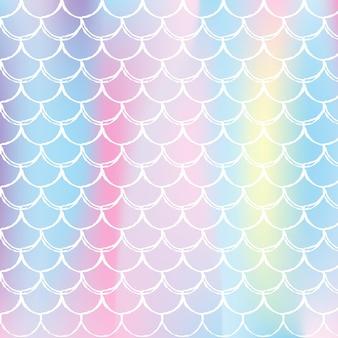 Gradientowy holograficzny wzór ogona syreny