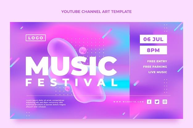 Gradientowy kolorowy festiwal muzyczny kanał youtube