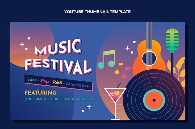 Gradientowy kolorowy festiwal muzyczny miniatura youtube