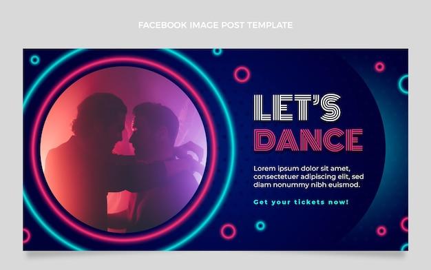 Gradientowy kolorowy festiwal muzyczny na facebooku