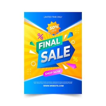 Gradientowy kolorowy plakat sprzedażowy