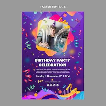 Gradientowy kolorowy plakat urodzinowy