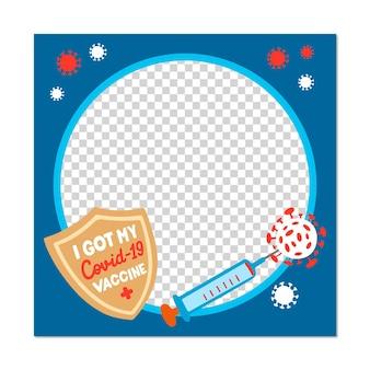 Gradientowy koronawirus ręcznie narysowany awatar z koronawirusem na facebooku ramka na facebooku
