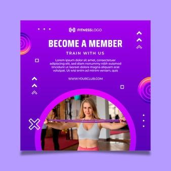 Gradientowy kwadratowy szablon do treningu na siłowni