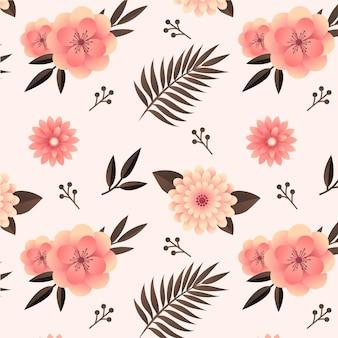 Gradientowy kwiatowy wzór w odcieniach brzoskwini