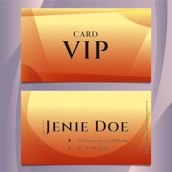 Gradientowy luksusowy szablon karty vip