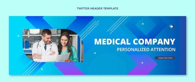 Gradientowy medyczny nagłówek twittera