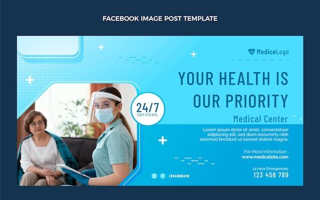 Gradientowy medyczny post na facebooku