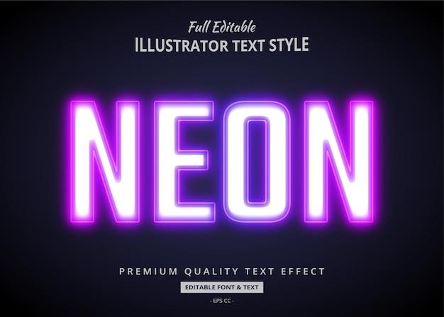 Gradientowy neon 3d efekt stylu tekstu