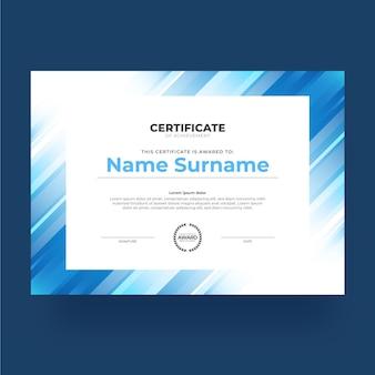 Gradientowy nowoczesny certyfikat osiągnięć