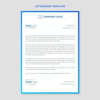 Gradientowy papier firmowy nieruchomości