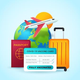 Gradientowy paszport szczepień na podróż
