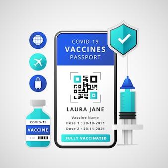 Gradientowy paszport szczepień