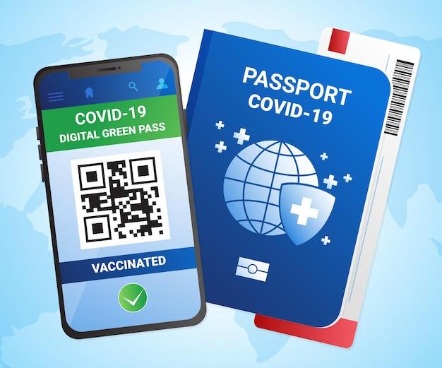Gradientowy paszport szczepienia na koronawirusa