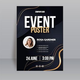 Gradientowy pionowy szablon plakatu