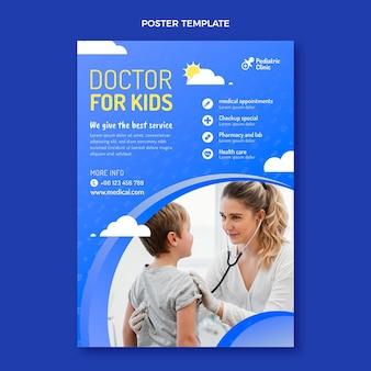 Gradientowy plakat lekarza dla dzieci