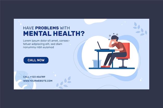 Gradientowy post na facebooku dotyczący zdrowia psychicznego