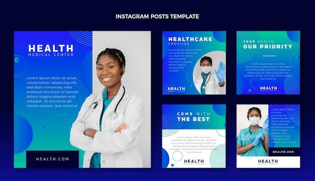 Gradientowy post na instagramie medycznym