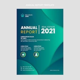 Gradientowy raport roczny dotyczący nieruchomości