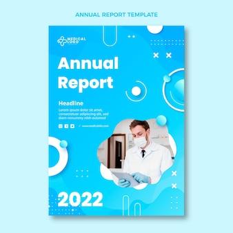 Gradientowy raport roczny medyczny