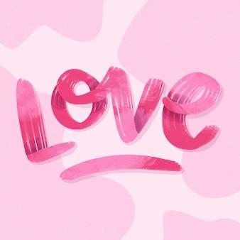 Gradientowy styl na literę miłości