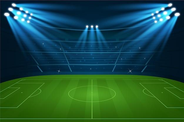 Gradientowy styl tła boiska do piłki nożnej