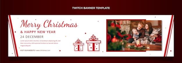Gradientowy świąteczny baner twitch