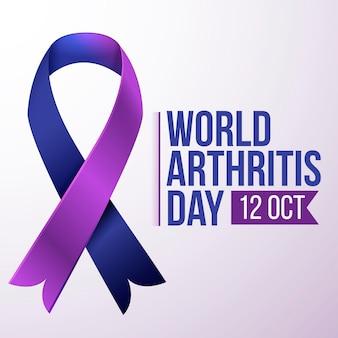 Gradientowy światowy dzień artretyzmu ilustracja