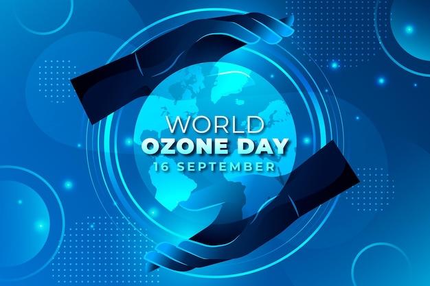 Gradientowy światowy dzień ozonu w tle