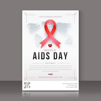 Gradientowy światowy dzień pomocy pionowego plakatu szablon