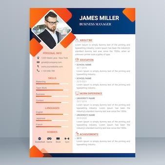 Gradientowy szablon aplikacji o pracę
