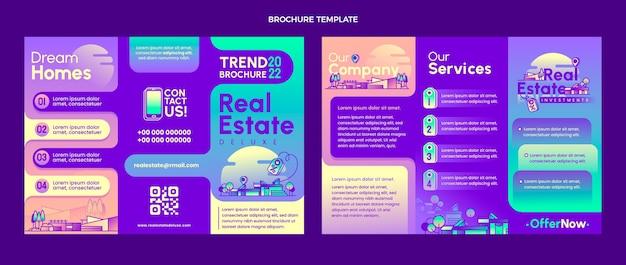 Gradientowy szablon broszury nieruchomości