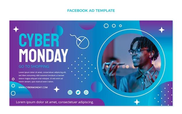Gradientowy szablon facebook cyber poniedziałek