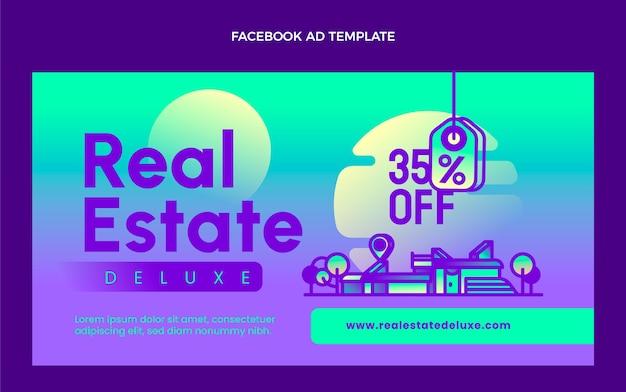 Gradientowy szablon facebook nieruchomości