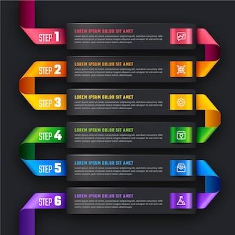 Gradientowy Szablon Infografiki Osi Czasu Darmowych Wektorów