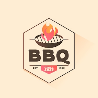 Gradientowy szablon logo grilla