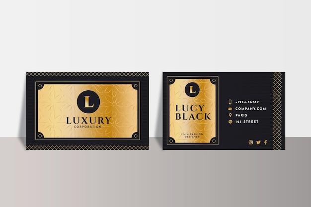 Gradientowy szablon luksusowych wizytówek