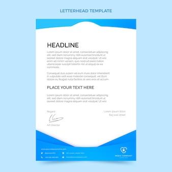 Gradientowy szablon medyczny papier firmowy
