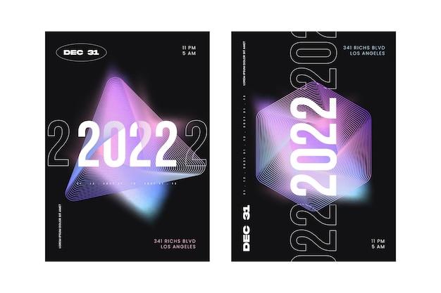 Gradientowy szablon plakatu pionowego nowego roku