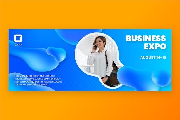 Gradientowy szablon projektu transparentu biznesowego