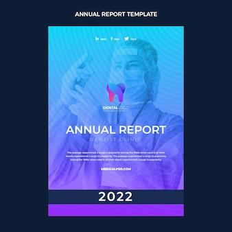 Gradientowy szablon raportu rocznego medycznego