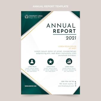 Gradientowy szablon raportu rocznego nieruchomości