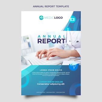 Gradientowy szablon rocznego raportu medycznego