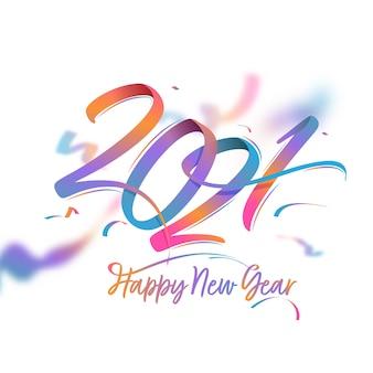 Gradientowy tekst szczęśliwego nowego roku 2021