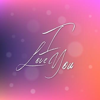 Gradientowy valentine kocham ciebie tło