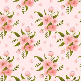 Gradientowy wzór kwiatowy w odcieniach brzoskwini