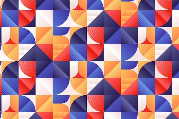 Gradientowy wzór mozaiki