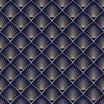 Gradientowy wzór w stylu art deco